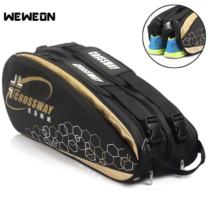 9Pcs Professional Racquet Sports Bag Large Badminton Bags Tennis Backpack 2019 Tennis Racket Bag For Shoes Badminton Accessories