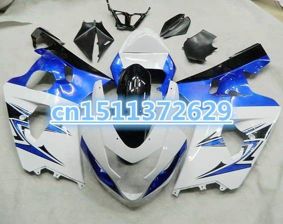 Bo For Black/White/Blue K4 04 05 A GSX-R600 GSXR600 HOT <font><b>GSXR</b></font>-<font><b>600</b></font> <font><b>GSXR</b></font> <font><b>600</b></font> <font><b>2004</b></font> 2005 Body 100%NEW fairings.dake image
