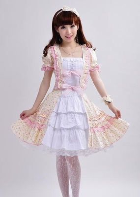 Alice My Fetish Store A7  Long Sleeveless Sweet Lolita Short Dress Ball Gown Fancy Prom Dress Halloween Party Masquerade Costume