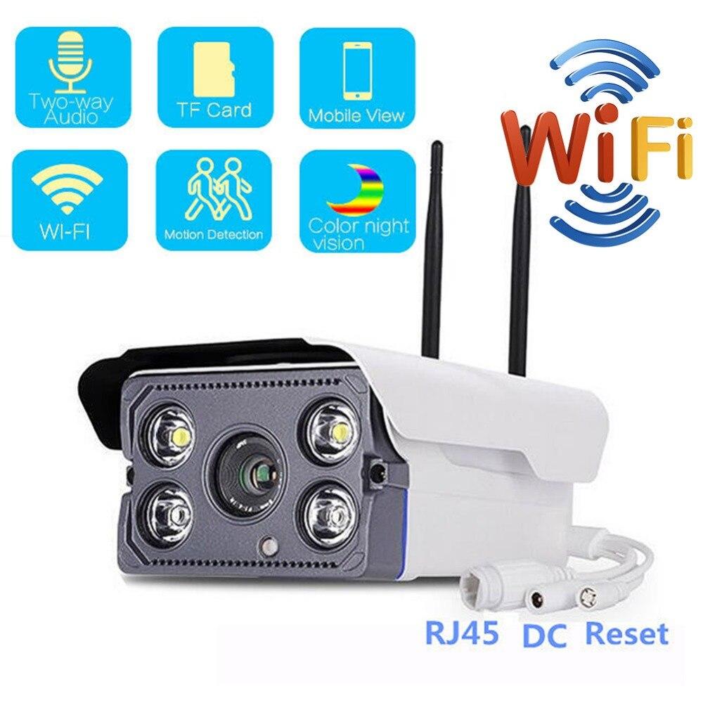 1080P Bala Câmera de Vigilância IP 720P Wi-fi Câmera de CCTV Ao Ar Livre Câmera de Vídeo a Cores de Segurança para Detecção De Movimento de Dois way Áudio