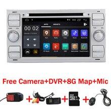 Бесплатная доставка Android 8,1 DVD плеер автомобиля для Ford Focus Kuga Transit Wi Fi 3g gps Bluetooth Radio RDS SD Руль управления