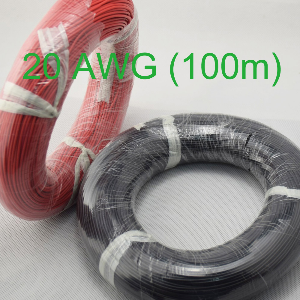 20 AWG 100 mt Gauge Silikon Draht Verdrahtung Flexible Litze Kupfer ...