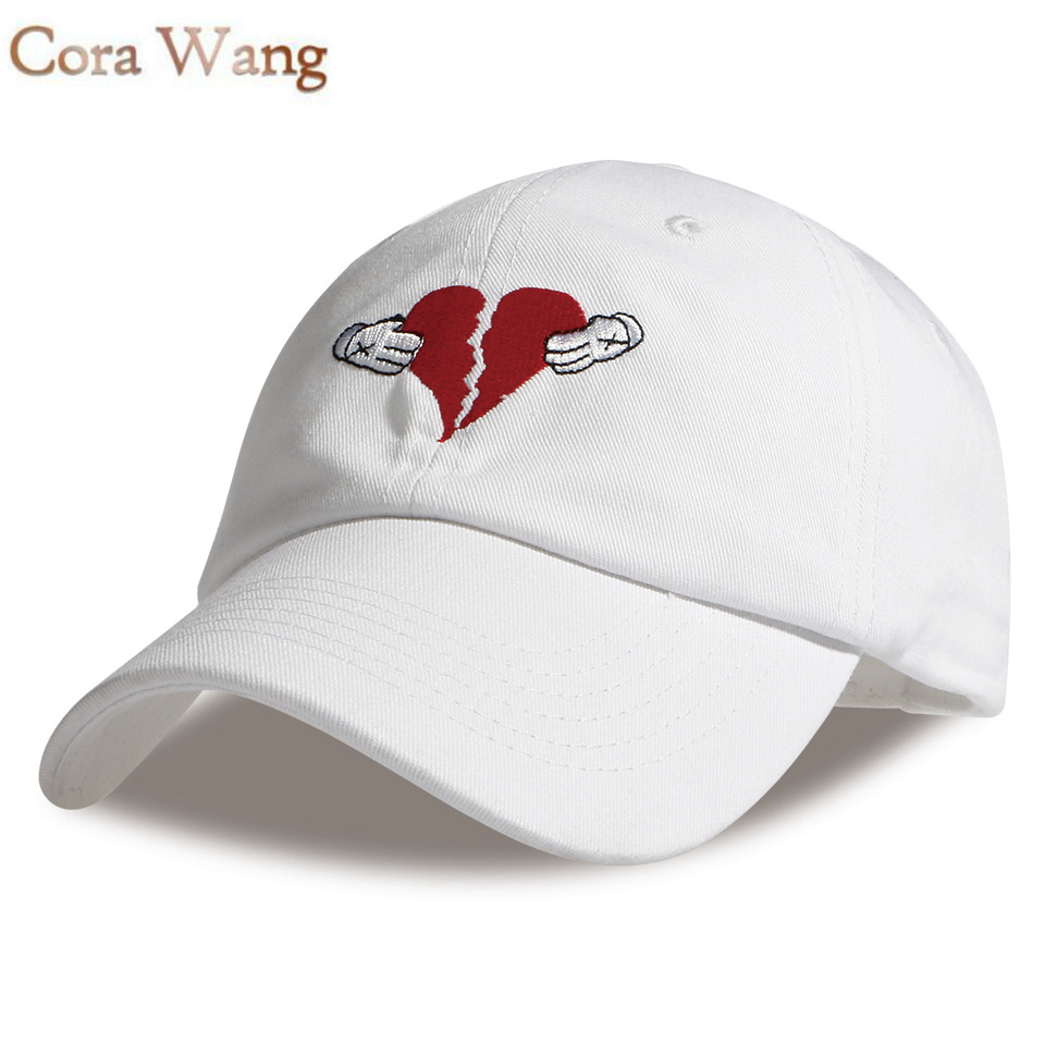 20 New Arrival Spring Autumn  Leisure Heart Break Embroidery Dad Hat 3Colors Baseball Outside Sports Cap For Women and men 2017 new heartbreaker embroidered unstructred dad cap hat heartbreak heart new men women fashion baseball cap hat