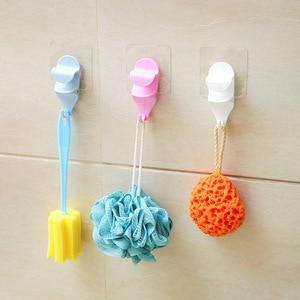 Image 1 - Nhựa Chậu Rửa Móc Kệ Phòng Tắm Vệ Sinh Mạnh Mẽ Hút Móc Treo Tường Hưng có Giá Để Đồ Mặt Dây Chuyền Chậu Rửa Móc Treo Khăn Móc Treo