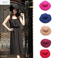 Hot Brand Women Girls Wool Wide Brim Felt Bowler Fedora Hat Lady Floppy Cloche
