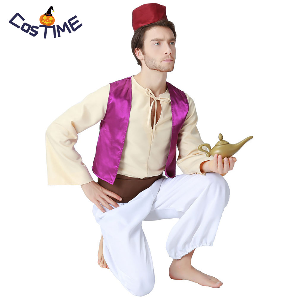 Halloween Sprookjes Kostuum.Us 37 79 30 Off Volwassen Aladdin Kostuums Arabische Prins Aladdin Fancy Dress Anime Verhaal Boek Sprookjes Kostuums Halloween Kostuum Voor