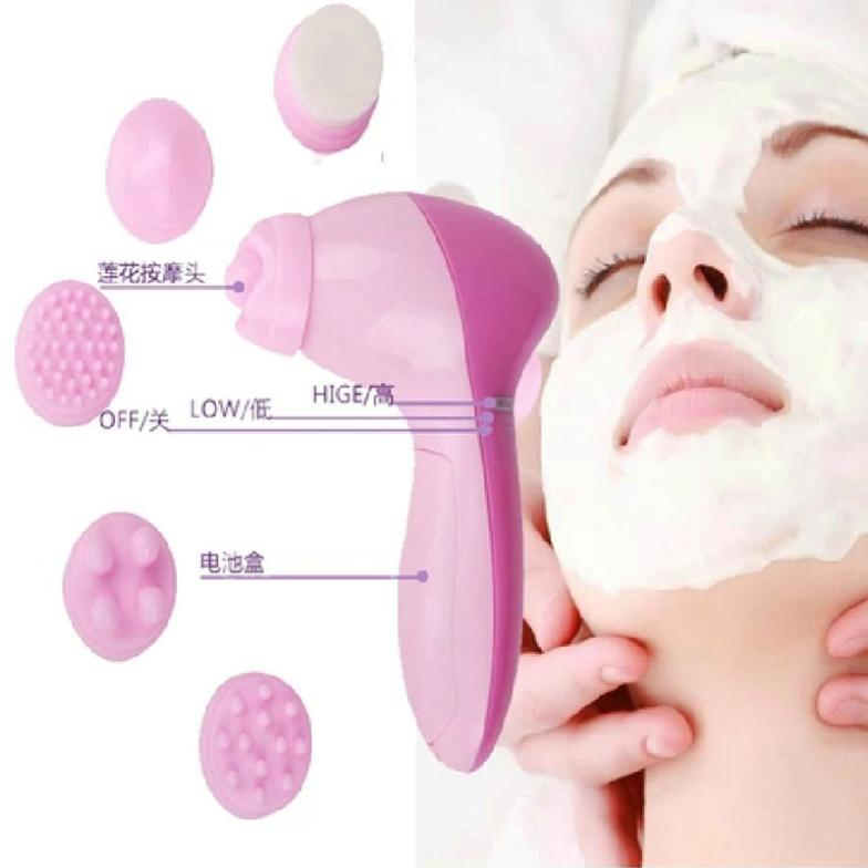 6-1 Multifunction Electric Face Facial Cleansing Brush Spa Skin Care Massage Body Cleaning Massage Mini Skin Brush#M01075 new 3 in1 multifunctional facial cleaning tools usb rechargeable electric rotating facial cleansing brush cleaners scrubber