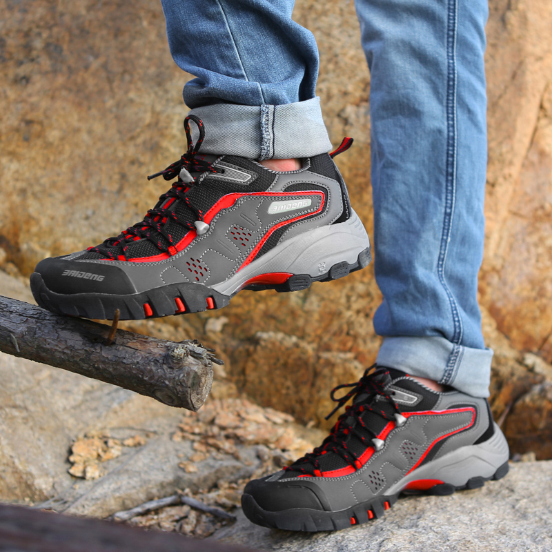 Good Quality Hiking Shoes Men Breathable Trekking Boots Non Slip Sports Man Sneakers Rubber Outsole Size 40-45
