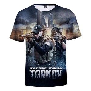Nueva llegada, camiseta 3D de Escape de Tarkov para niño/niña, Camiseta cómoda de alta calidad informal de verano Kpop Harajuku transpirable