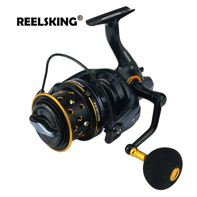 REELSKING 10000 size metal spool Jigging trolling long shot casting for carp and salt water surf spinning big sea fishing reel af8000 full metal spool jigging trolling long shot casting for carp and salt water surf spinning big sea fishing reel