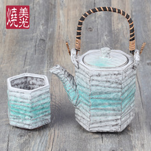 601ml-700ml Japanese Stone-like Ceramic Tea Set with Heavy Pottery Liliang Teapot контейнер rosenberg 700ml rgl 230141