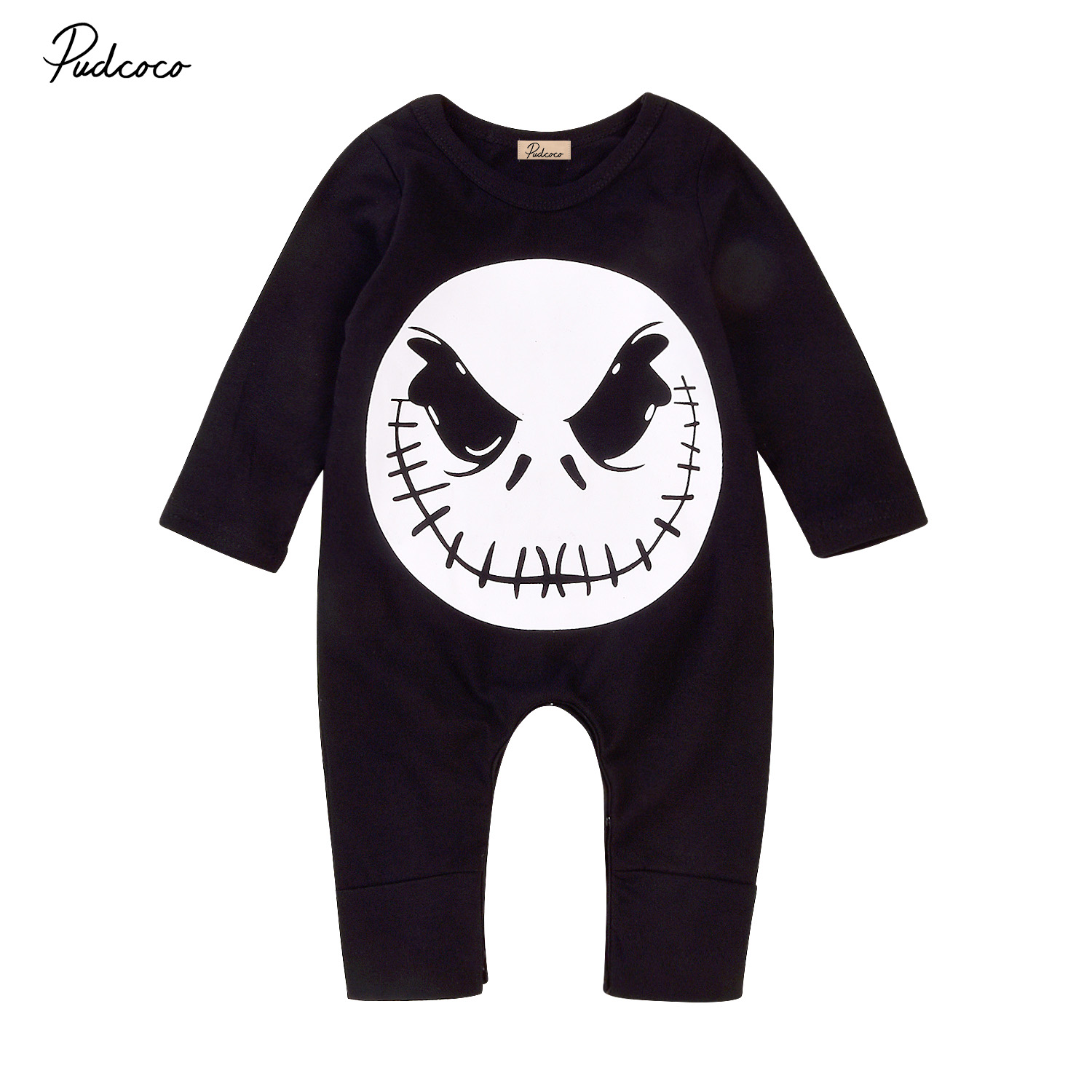 halloween baby romper newborn infant boys girls long sleeves black romper cotton jumpsui ...
