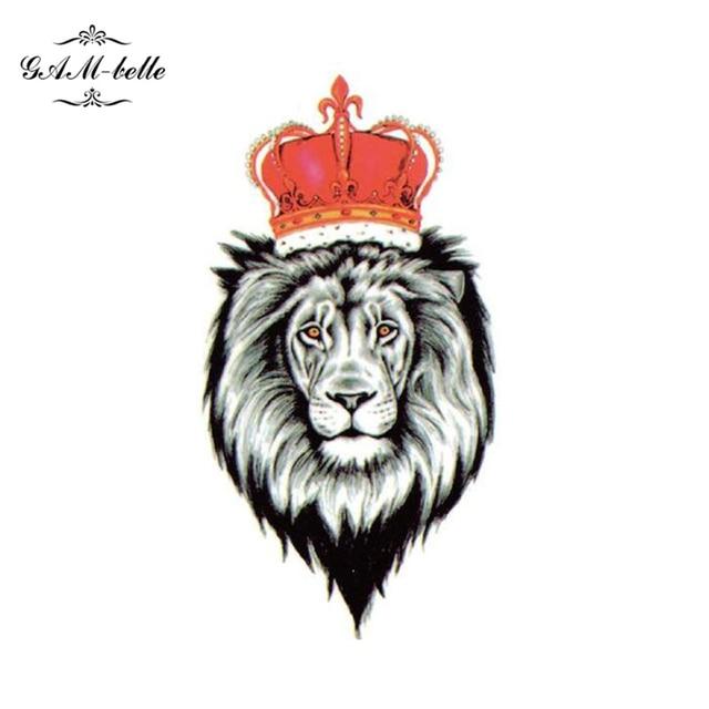 León Corona Lindo Simulación Espalda O Brazo Tatuaje Pegatinas