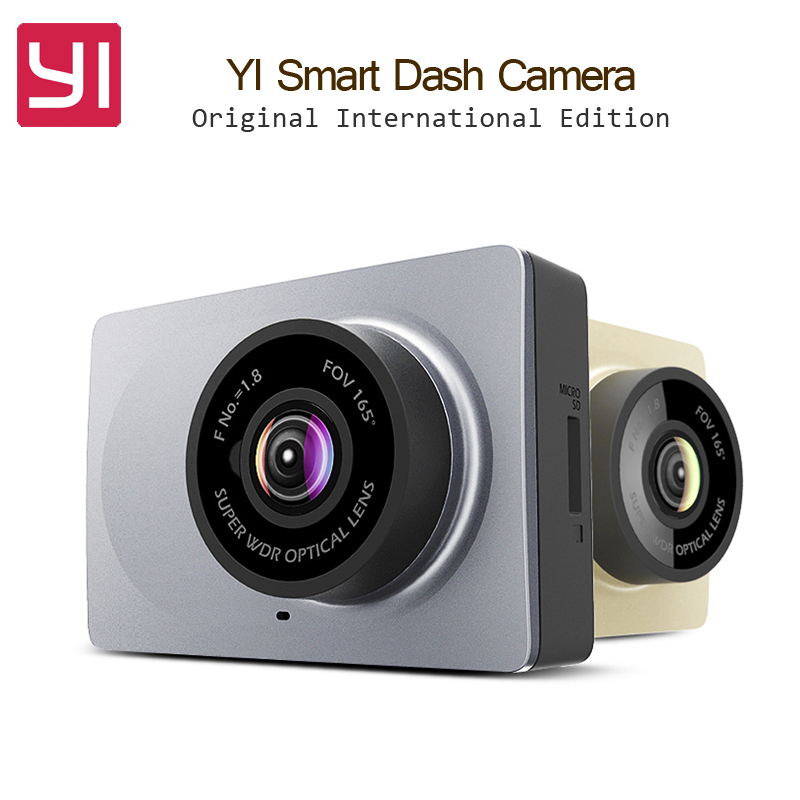 Original International Edition Xiaomi YI Smart Car DVR WiFi Xiaoyi Dash Camera 165 Degree ADAS 1080P 60fps 2.7Inch Car Camera