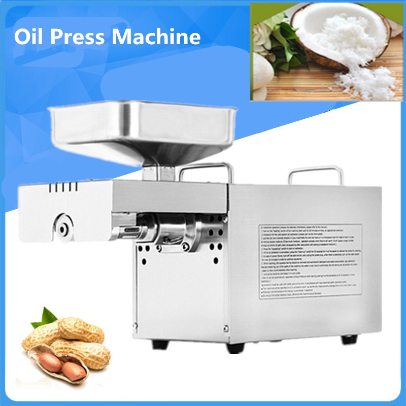 Full Automatic Sunflower Oil Presser Oil Extractor Expeller Pressing Machine Stainless Steel Peanut Coconut Oil Press Machine brand new 200w 220v mini oil press machine peanut oil pressing presser machine with english manual