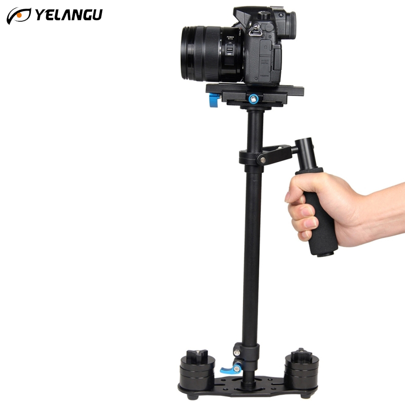Professional YELANGU S60L 3 kg 61cm Aluminum Tripod Handheld Stabilizer Steadicam for Camcorder Camera Video DSLR Carbon Fiber yelangu s40t professional carbon fiber handheld stabilizer steadicam for canon dslr camera dv camcorder sports camera