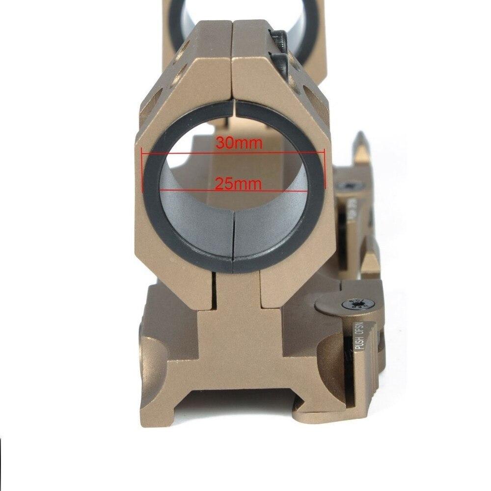 One piece weaver rail rifle scope mount//1 pièces libération rapide 30mm scope ring