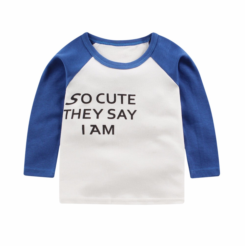 Для маленьких мальчиков футболка детская Костюмы 2017 брендовая одежда Обувь для мальчиков топы с длинными рукавами Аппликации животных Дет...