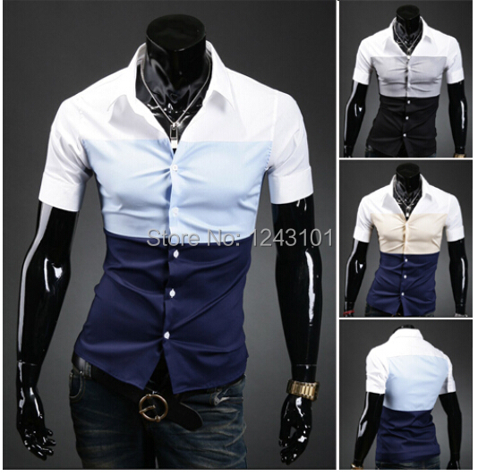 Luxury New British Style Mens Fitted Dress Shirts 2016 Men's ...