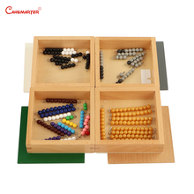 Math Educational Toys Beads Additiong&Subtraction Snake Game Beech Wood Montessori Teaching Toy Preschool MA043-3 sensorial montessori sets educational toys infant toddlers box board puzzles teaching wood game and toys preschool home ses02 3