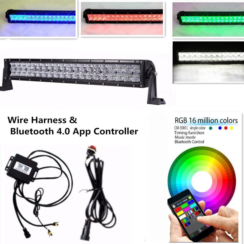 Farben App Us 87 71 14 Off Bluetooth App Kontrolle 5d Rgb Led Lichtleiste 16 Millionen Farben ändern Tonnen Blinkmodus Musik Code Timing Strobe Light Bar In
