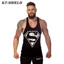 Superman Cotton Mens Tank Tops Summer style Fitness Stringer Vests Brand Men Sleeveless Shirt Bodybuilding Singlets