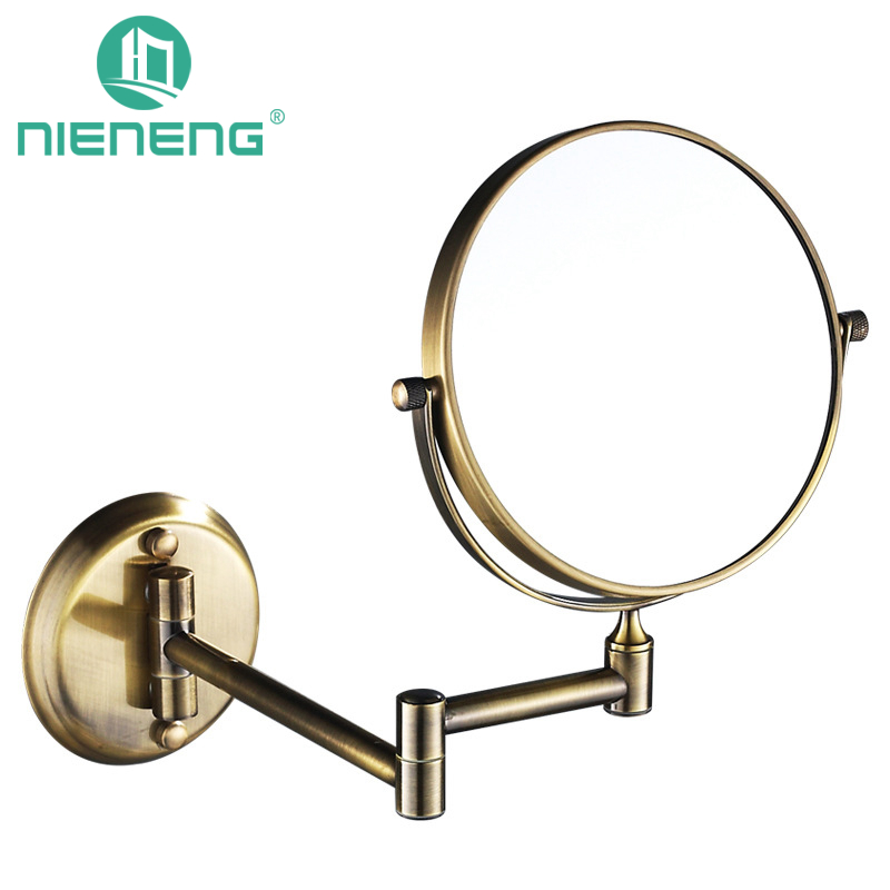 Nieneng Bathroom Makeup Mirrors Wall Mounted Folding Mirror 3X 5X 7X 10X Bath Make Up Toilet Magnifying ICD60523 In From Home