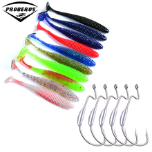 Hot Floating Soft Lures 30pcs/lot Silicone Fishing Bait + 5pcs Jig Big Treble Hooks 8.5CM-3.5″/2.4G-0.085oz/pcs Bass Baits