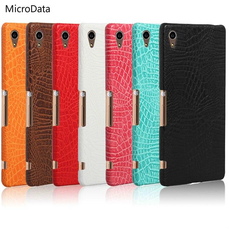 MicroData For Sony Xperia Z4 Luxury Crocodile Pattern Case on Z 4 E6353  SO-03G Dual Hard PU Leather Phone Case f74cb94eb8710