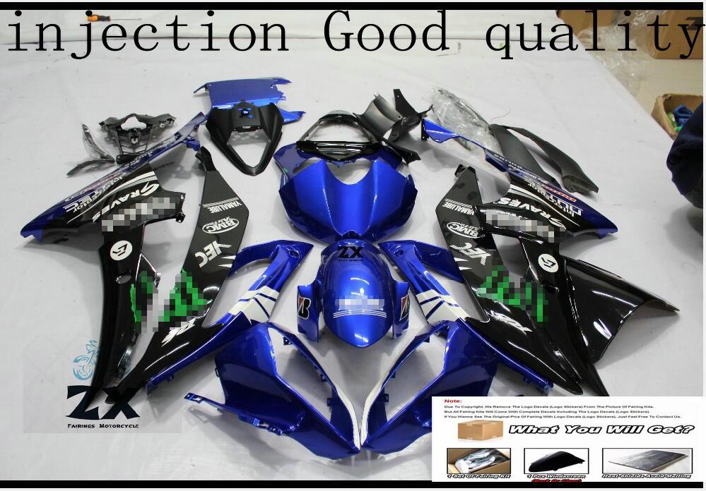 Бесплатный подарок Полный обтекатели для Yamaha YZF R6 2008 2009 2010 2011 2015 Пластик впрыска комплект мотоциклов Обтекатели Сук УФ