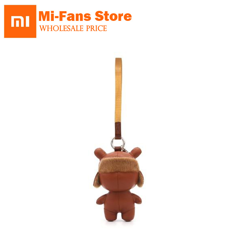Xiaomi MiTu Rabbit Ornaments 13cm Height Leather Smart Accessories For Bags Mobile Phones Decoration Gift 123456SMT