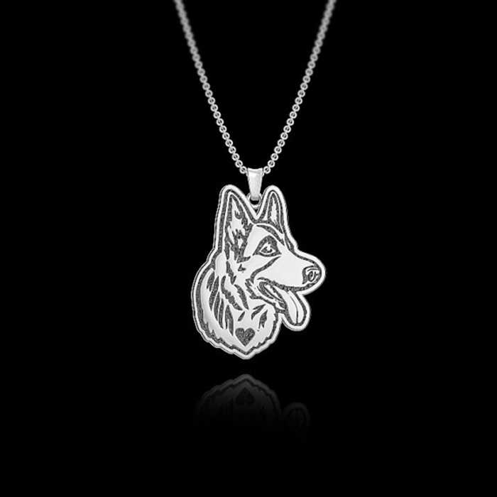Daisies One Piece New Fashion Pendant Necklace German Shepherd Necklace For Women Jewelry Animal Collier Femme Dog