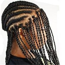 Feibin Вязание Крючком Твист косички волосы 18 дюймов длинные крючком косички синтетические волосы для наращивания на всю голову
