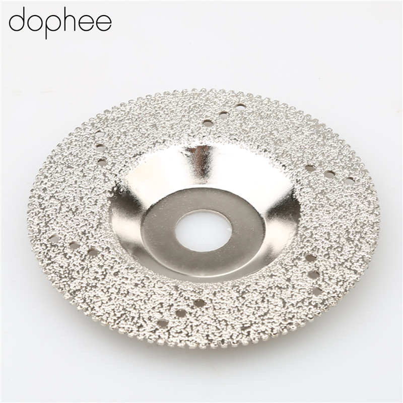 dophee 100mm 4 inch Diamond Coated Cutting Disc Saw Blade Cut Off Wheel Stone Grit 46 Silver Colour 1PC
