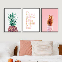 Pink Pineapple Nordic Poster Cuadros Decoracion Wall Art Canvas Painting Posters And Prints Pictures Unframed
