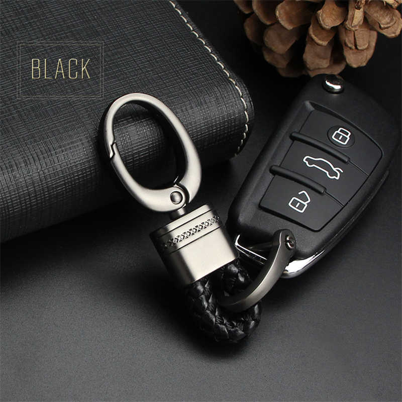 Tay Dệt Da Xe Keyring Keychain Chuỗi Vòng Chìa Khóa Cho Mercedes Benz Phụ Kiện W203 W204 W211 W212 W124 Cla Amg gla Key