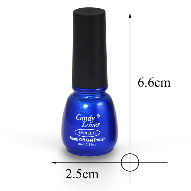 Candy Lover Hot-Selling  Gel Nail Polish 240 Fashion Colors Soak Off LED/UV Nail Gel Polish 1 pcs 8ml Nail Gel