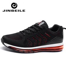 Jinbeile men running shoes shock absorption sports sneaker breathable Air light Max for outdoor walking jogging