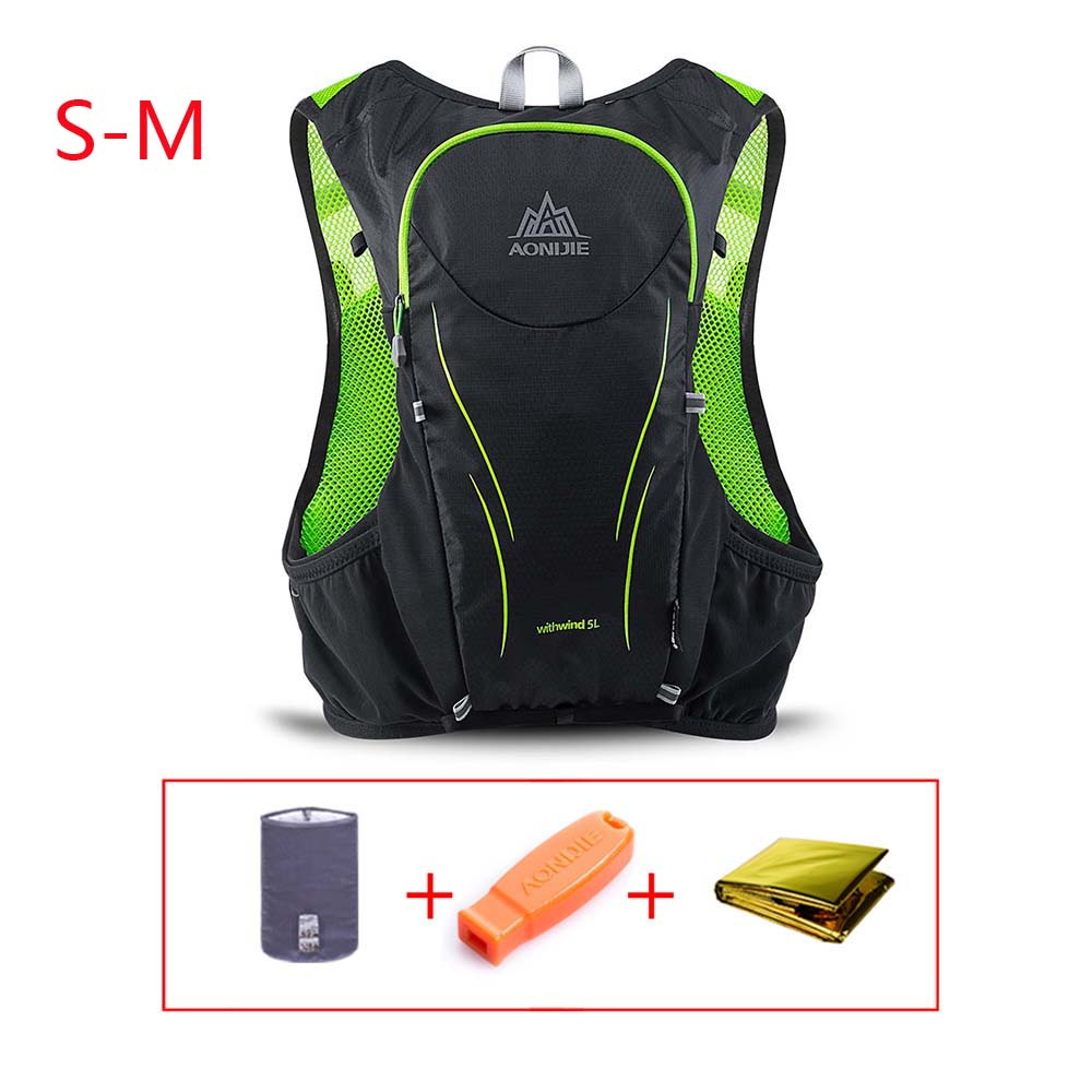 2//5L Sports Backpack Camelback Pack Water Bottle Bladder Bag Cycling Running New