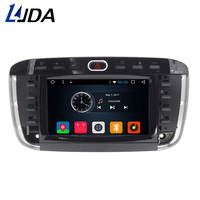 LJDA 1 din Auto Radio Android 6.0 Car DVD Stereo For Fiat Punto Abarth Punto EVO Linea 2012 2013 GPS Navigation Bluetooth CANBUS
