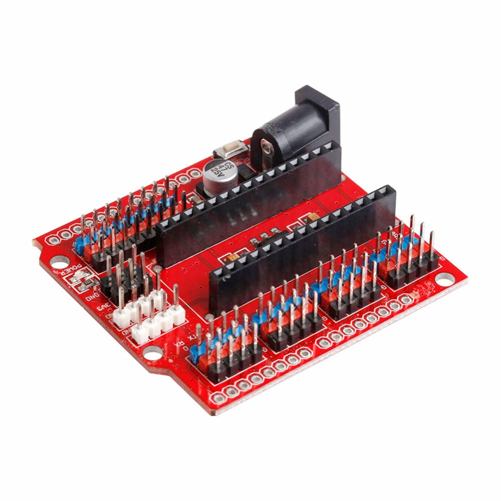 OOTDTY Prototype Shield I/O Extension Board Expansion Module V3.0 For Arduino Nano pn532 nfc rfid shield module breakout board development board expansion board silver