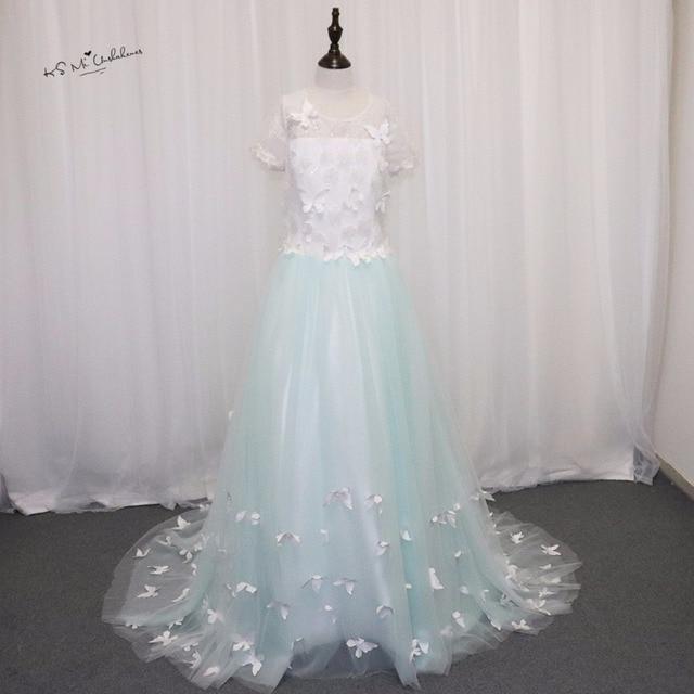 8aeb6e272fa8 Super Blue Long Pageant Dresses for Kids Evening Graduation Gowns CU47