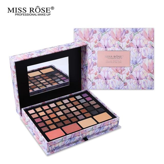 Professional Flower Makeup Cosmetic Set Gift For Women Eyeshadow Lipstick Concealer Blush Mirror Kits Make Up Brand MISS ROSE