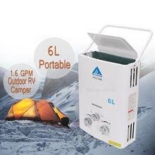 2018 Лидер продаж проточный водонагреватель Пропан Газ LPG 1,6 GPM открытый RV Camper 6L портативный