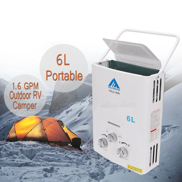 2018 HOTSALES Tankless Hot Water Heater Propane Gas LPG 1.6 GPM Outdoor RV Camper 6L Portable