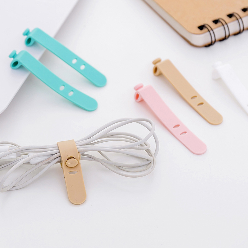 New 4pcs/set Creative Travel Accessories Silica Gel Cable Winder Earphone Protector USB Phone Holder Accessory Packe Organizers