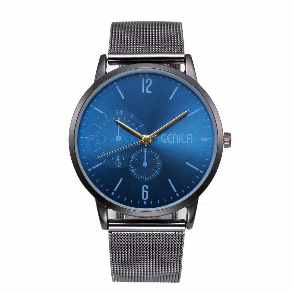 Nuevo Relogio Masculino de moda Simple Relojes hombres clásico reloj de pulsera de cuarzo de lujo reloj de acero inoxidable de erkek kol saati