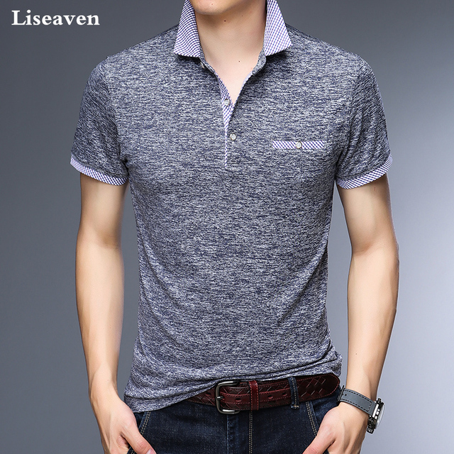 Liseaven Men Polos Business Office Polo Shirt Brand Mens Polo Shirts Men Clothing Solid Casual Cotton