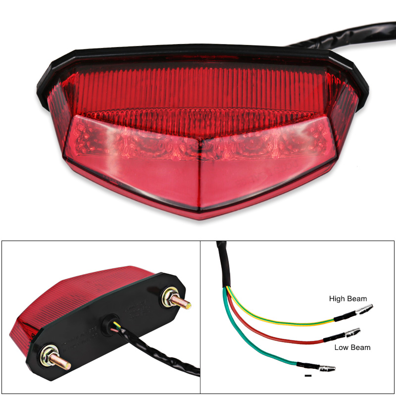 lowest price Motorcycle Tail Rear Light Red LED Rear Lamp Taillight Motorbike Brake Stop Lights Turn Signals for Honda Yamaha etc
