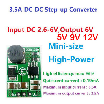 15W DC-DC Boost Converter 2.6-5V 3V 3.3V TO 5v 6V 9v 12v DC-DC Step-up Voltage Regulated CAR Power Supply Battery charger image